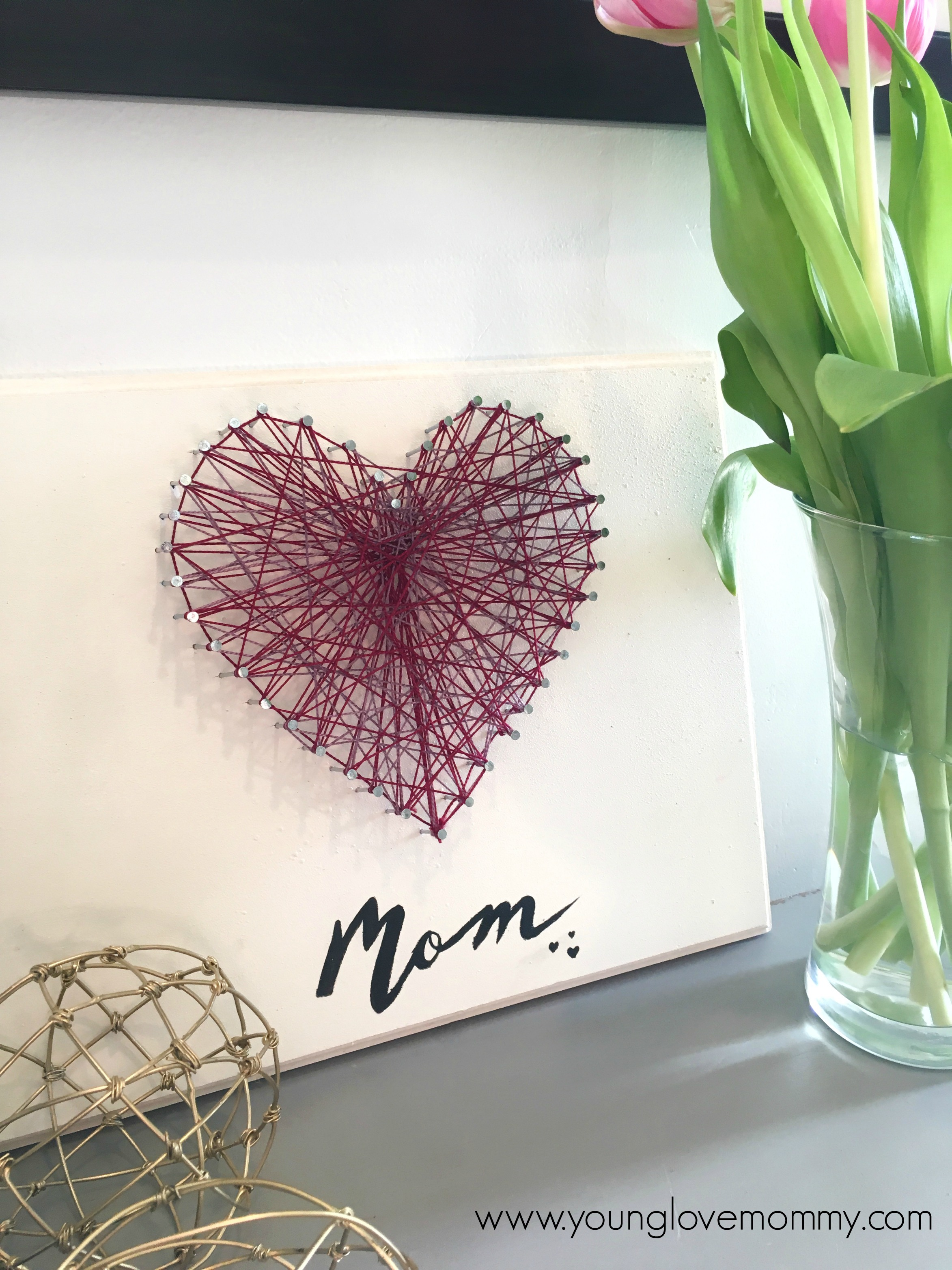 mothers day crafts pinterest s day string craft 5001